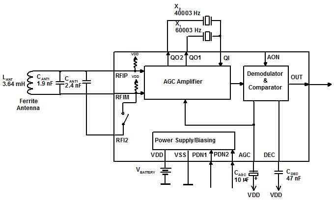 mas6181b stand alone dual band time signal am receiver ic telephone schematic diagram telephone schematic wiring #2